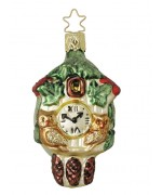 TEMPORARILY OUT OF STOCK  Inge-Glas Ornament Old World Timepiece