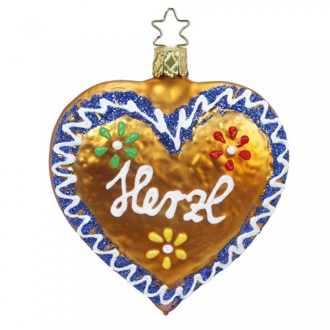 Inge-Glas Ornament Frosted Lebkuchen