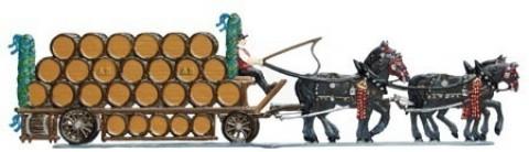 Bavarian beer truck - Bayrischer Bierwagen Standing Pewter Wilhelm Schweizer