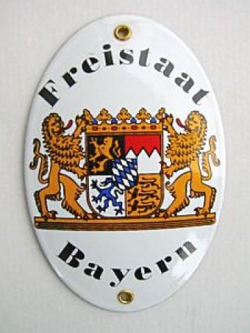 Friestaat Bayern Enamel Sign