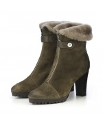 TEMPORARILY OUT OF STOCK - Dirndl + Bua Leather High Heel Boots