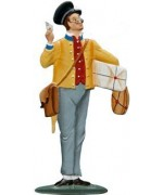 Postman - Postbote Carl Spitzweg Standing Pewter Wilhelm Schweizer