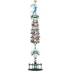 Large Bavarian May Pole Maibaum Standing Wilhelm Schweizer Pewter