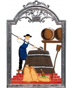 Bierbrauer - Beer Brewer Window Wall Hanging Wilhelm Schweizer