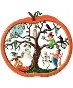 TEMPORARILY OUT OF STOCK - Hanging Jack-O-Lantern Window Wall Hanging Wilhelm Schweizer
