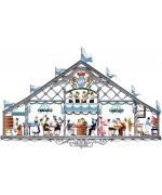 Oktoberfest - Beer Tent Window Wall Hanging Wilhelm Schweizer