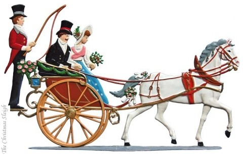 Bayrischer Hochzeitszug Hochzeitskutsche Wedding Carriage Standing Pewter Wilhelm Schweizer
