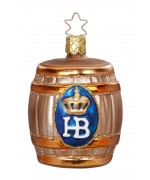 Inge-Glas Ornament HB Beer Keg - TEMPORARILY OUT OF STOCK