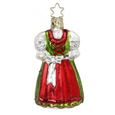 Inge-Glas Ornament Holiday Dirndl - TEMPORARILY OUT OF STOCK