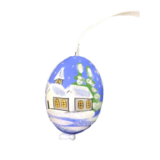 Christmas and Easter Egg - Blue Church