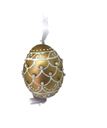 Christmas and Easter Egg - Gold Ribbon