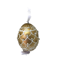 Christmas and Easter Egg - Gold Ribbon