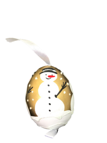 Christmas and Easter Egg - Gold Snowman