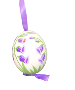 Christmas and Easter Egg - Purple Flowers Egg