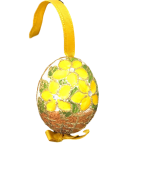 Christmas and Easter Egg - Yellow Brown Basket