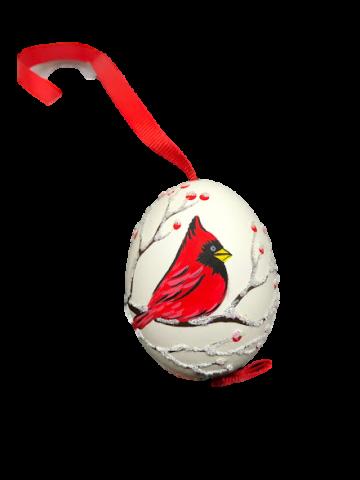 Christmas and Easter Egg - Red Cardinal