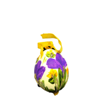 TEMPORARILY OUT OF STOCK - Christmas and Easter Egg - Purple Pansy