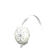 Christmas and Easter Egg - White Snowflake