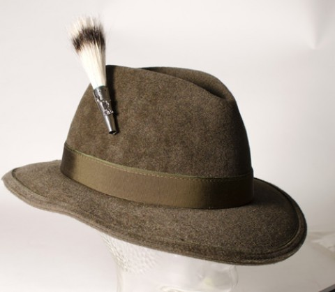 German Wild Badger Beard Brush Hat Pin - TEMPORARILY OUT OF STOCK