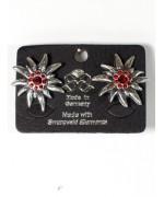 Octoberfest / Oktoberfest Swarovski Ruby Earrings Pierced