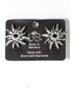 Edelweiss Swarovski Pierced Earrings
