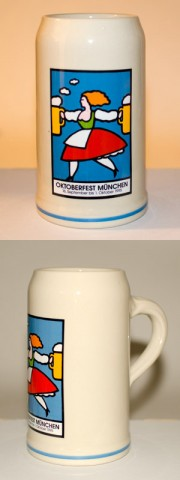 TEMPORARILY OUT OF STOCK<BR>The Official Munich Oktoberfest Stein 1995 Beerstein - 1,0 Liter
