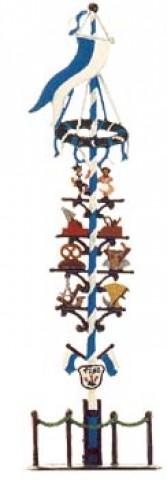 May Pole Maibaum Standing Pewter Wilhelm Schweizer