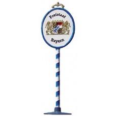 Bayerisches Grenzschild Standing Pewter Wilhelm Schweizer