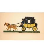 Carriage Postkutsche Miniature Standing Pewter Wilhelm Schweizer
