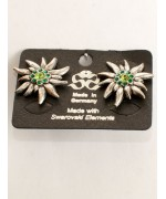 TEMPORARILY OUT OF STOCK  - Oktoberfest / Octoberfest Jewelry Green Crystal Earrings
