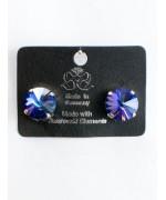 Violet Starburst Swarovski Crystal Clip-On Earrings