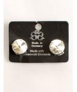 Clear Swarovski Crystal Clip-On Earrings