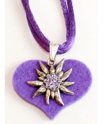 TEMPORARILY OUT OF STOCK - Edelweiss on Felt Necklace