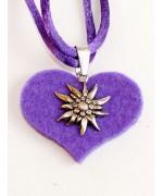 Edelweiss on Felt Necklace