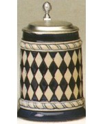 TEMPORARILY OUT OF STOCK - Oktoberfest Beer Stein Bavarian Pattern 0.5 L