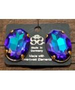 Swarovski Crystal  Clip Earrings