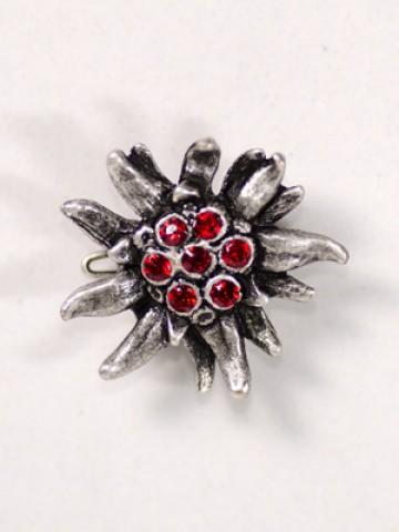 Octoberfest / Oktoberfest Red Crystal Edelweiss Pin