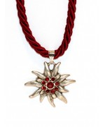 Dark Red Edelweiss Swarovski Necklace