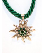 Emerald Green Edelweiss Swarovski Necklace