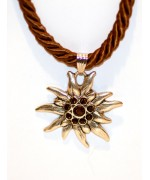 Brown Edelweiss Swarovski Necklace