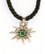 Green Edelweiss Swarovski Necklace