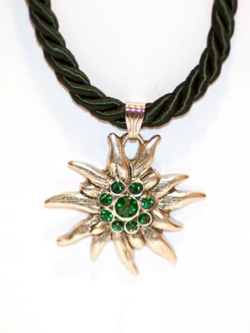 Green Edelweiss Swarovski Necklace