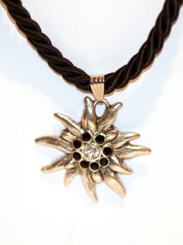Black Edelweiss Swarovski Necklace