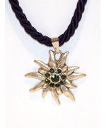 TEMPORARILY OUT OF STOCK - Dark Blue Edelweiss Swarovski Necklace