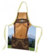 Oktoberfest Apron - Female in Lederhosen