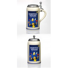 TEMPORARILY OUT OF STOCK - The Official Munich Oktoberfest 2012 Beer Stein with Tin Lid 1 Liter