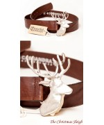 Stag Leather Belt  Cassandra Accesoires