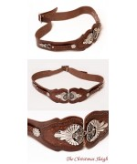 TEMPORARILY OUT OF STOCK - Ornate Leather Belt