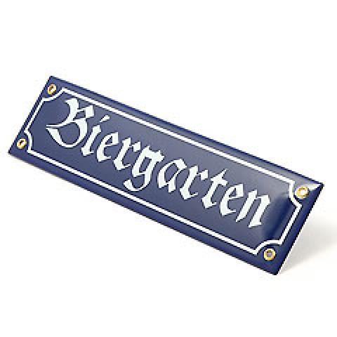 Oktoberfest Biergarten Enamel Schild Sign