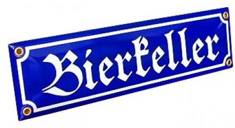 Bierkeller beer cellar Enamel signs